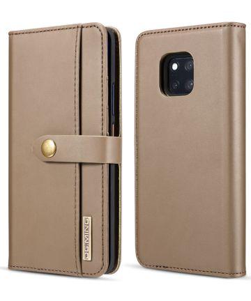 Huawei Mate 20 Pro Leren 2-in-1 Bookcase en Back Cover Hoesje Bruin Hoesjes