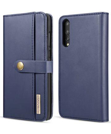 Huawei P20 Pro Leren 2-in-1 Bookcase en Back Cover Hoesje Blauw Hoesjes