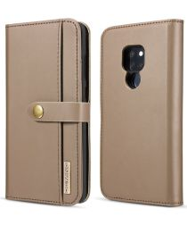 Huawei Mate 20 Leren 2-in-1 Bookcase en Back Cover Hoesje Bruin