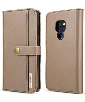 Huawei Mate 20 Leren 2-in-1 Bookcase en Back Cover Hoesje Bruin Hoesjes