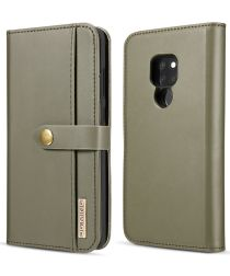 Huawei Mate 20 Leren 2-in-1 Bookcase en Back Cover Hoesje Groen