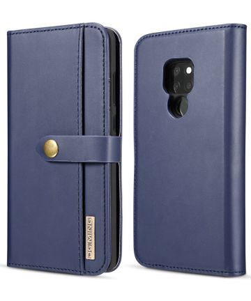 Huawei Mate 20 Leren 2-in-1 Bookcase en Back Cover Hoesje Blauw Hoesjes