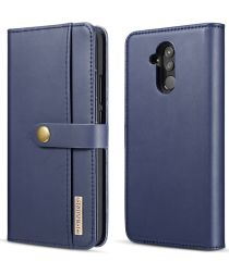 Huawei Mate 20 Lite Leren 2-in-1 Bookcase en Back Cover Hoesje Blauw