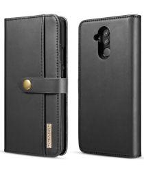 Huawei Mate 20 Lite Leren 2-in-1 Bookcase en Back Cover Hoesje Zwart