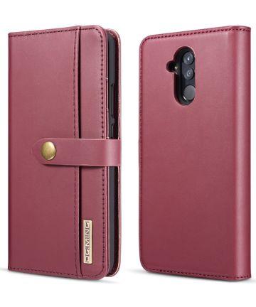 Huawei Mate 20 Lite Leren 2-in-1 Bookcase en Back Cover Hoesje Hoesjes