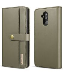 Huawei Mate 20 Lite Leren 2-in-1 Bookcase en Back Cover Hoesje Groen
