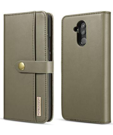 Huawei Mate 20 Lite Leren 2-in-1 Bookcase en Back Cover Hoesje Groen Hoesjes