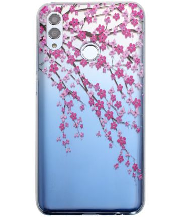 Honor 10 Lite Transparant Hoesje met Print Blossom Flower Hoesjes