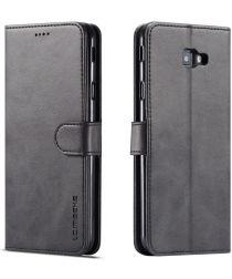 Samsung Galaxy J4 Plus Book Case Portemonnee Hoesje Zwart