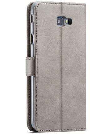 Samsung Galaxy J4 Plus Book Case Portemonnee Hoesje Grijs