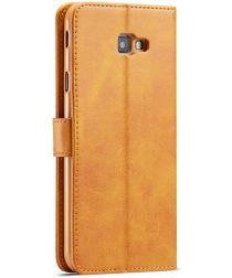 Samsung Galaxy J4 Plus Book Case Portemonnee Bookcase Hoesje Bruin