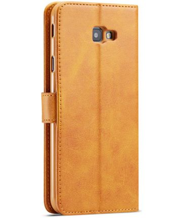 Samsung Galaxy J4 Plus Book Case Portemonnee Bookcase Hoesje Bruin