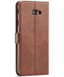 Samsung Galaxy J4 Plus Book Case Portemonnee Bookcase Hoesje Coffee