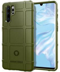 Huawei P30 Pro Anti-Shock Hybride Hoesje Groen