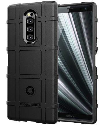 Sony Xperia 1 Anti-Shock Hybride Hoesje Zwart Hoesjes