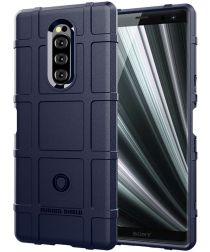Sony Xperia 1 Anti-Shock Hybride Hoesje Blauw