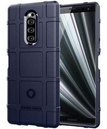 Sony Xperia 1 Anti-Shock Hybride Hoesje Blauw Hoesjes