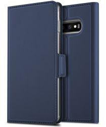 Samsung Galaxy S10 Plus Card Holder Case Blauw