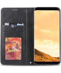 AZNS Samsung Galaxy S8 Stand Portemonnee Hoesje Grijs