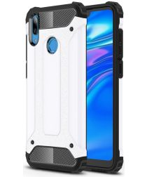 Huawei Y7 (2019) Hybride Armor Hoesje Wit