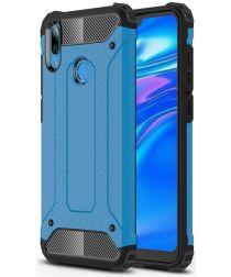 Huawei Y7 (2019) Hybride Armor Hoesje Blauw