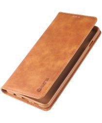 Samsung Galaxy S10 Plus Leren Stand Portemonnee Hoesje Bruin