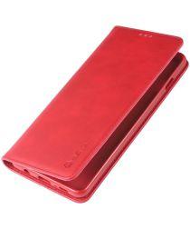 Samsung Galaxy S10 Kunstleer Stand Portemonnee Hoesje Rood