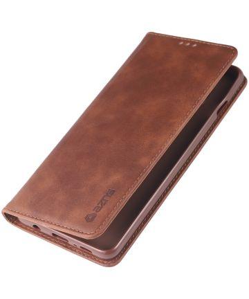 Samsung Galaxy S10 Kunstleer Stand Portemonnee Hoesje Bruin Coffee Hoesjes
