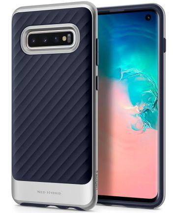 Spigen Neo Hybrid Hoesje Samsung Galaxy S10 Arctic Silver Hoesjes