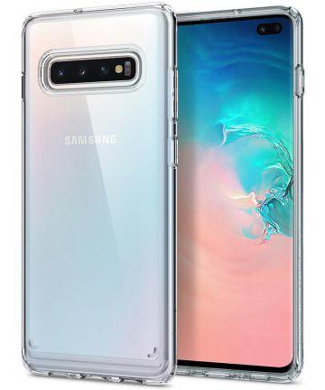 Spigen Crystal Hybrid Hoesje Samsung Galaxy S10 Plus Transparant