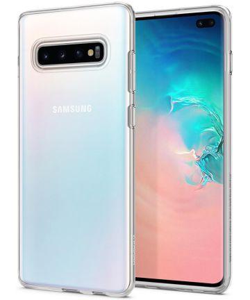 Spigen Liquid Crystal Hoesje Samsung Galaxy S10 Plus Transparant Hoesjes