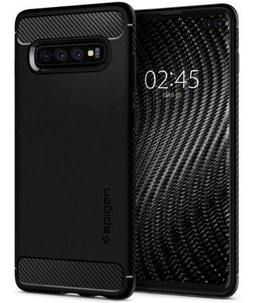 Spigen Rugged Armor Hoesje Samsung Galaxy S10 Plus Zwart Hoesjes