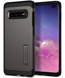 Spigen Tough Armor Hoesje Samsung Galaxy S10 Plus Gunmetal