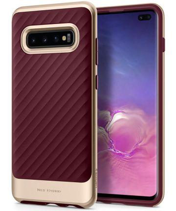 Spigen Neo Hybrid Hoesje Samsung Galaxy S10 Plus Burgundy Hoesjes