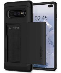 Spigen Slim Armor Card Holder Case Samsung Galaxy S10 Plus Zwart