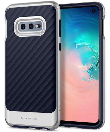Spigen Neo Hybrid Hoesje Samsung Galaxy S10E Arctic Silver Hoesjes