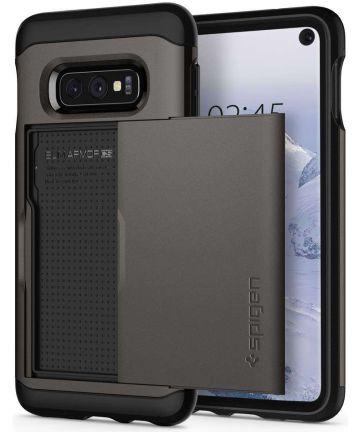 Spigen Slim Armor Hoesje Kaarthouder Samsung Galaxy S10E Gunmetal