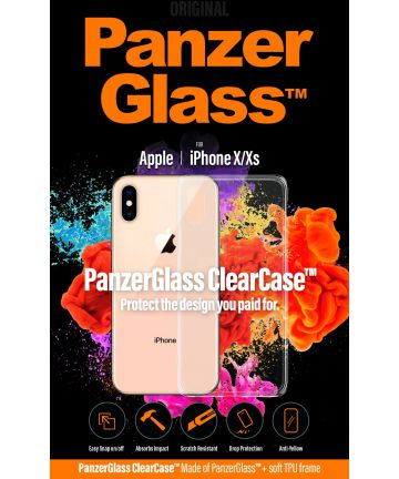 Panzerglass Apple iPhone XS ClearCase Transparant Hoesje Hoesjes