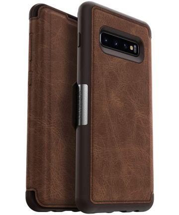 Otterbox Strada Hoesje Samsung Galaxy S10 Plus Bruin Hoesjes