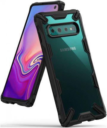 Ringke Fusion X Samsung Galaxy S10 Hoesje Zwart Hoesjes