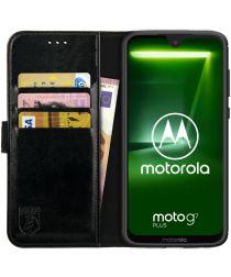 Rosso Element Motorola Moto G7 Plus Hoesje Book Cover Zwart