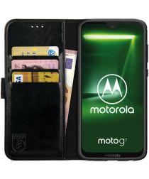 Rosso Element Motorola Moto G7 Power Hoesje Book Cover Zwart