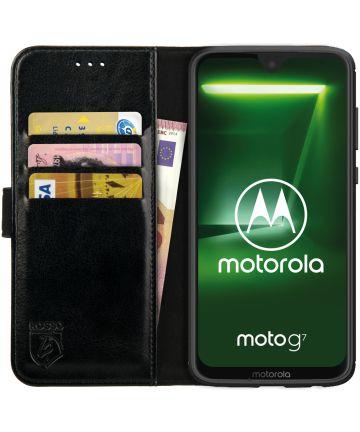 Rosso Element Motorola Moto G7 Power Hoesje Book Cover Zwart Hoesjes