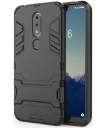 Nokia 6.1 Plus Hybride Back Cover Zwart