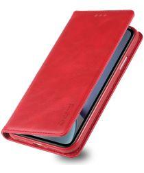 Apple iPhone XR Retro Portemonnee Hoesje Rood