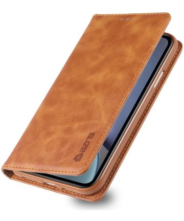Apple iPhone XR Retro Portemonnee Hoesje Bruin Hoesjes
