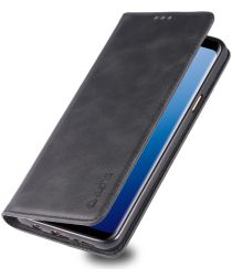 Samsung Galaxy S9 Plus Retro Portemonnee Hoesje Zwart