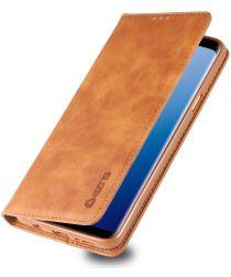 Samsung Galaxy S9 Plus Retro Portemonnee Hoesje Bruin