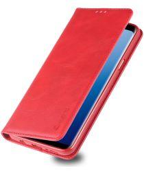 Samsung Galaxy S9 Plus Retro Portemonnee Hoesje Rood