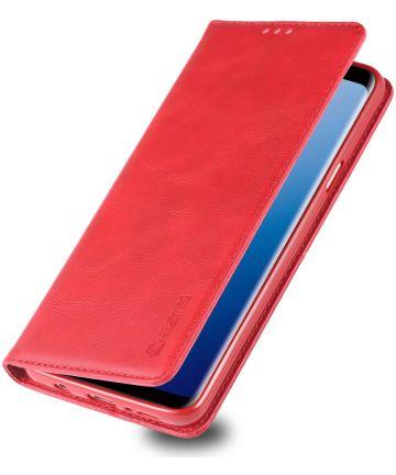 Samsung Galaxy S9 Plus Retro Portemonnee Hoesje Rood Hoesjes